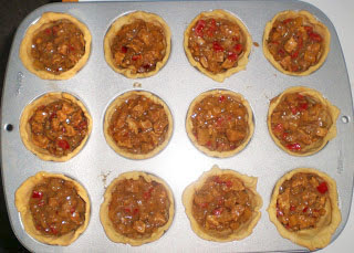 TARTALETAS DE POLLO AL CURRY Chicken curry pot pies masa quebrada la cocinera novata cocina receta gastronomia india norteamericana tartas saladas