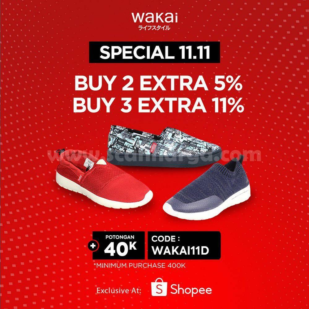 WAKAI Promo Special 11.11 Diskon hingga 70% via Official Store Shopee