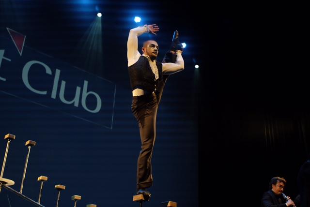 Apresnetação circense para evento de premiação Part Club, Teatro Porto Seguro SP.