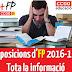 13 Juny: Novetats Oposicions d'FP 2016-17
