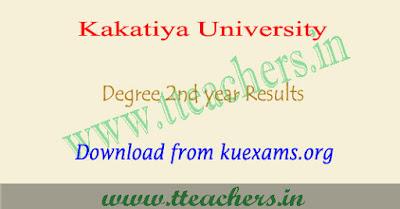 KU degree 3rd sem results 2018, Kakatiya university 2nd year result 2018