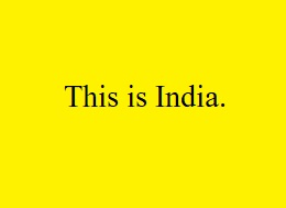 this is india meaning in hindi