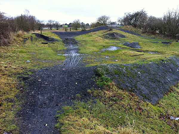 Site of Wetherby Racecourse Railway Station - now a bike track