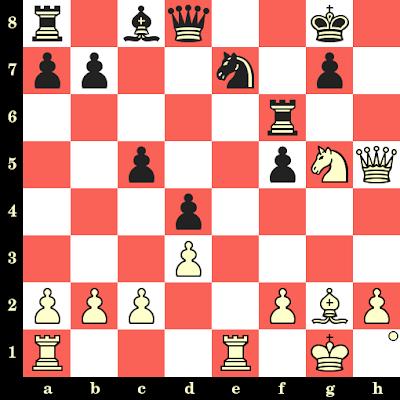 Les Blancs jouent et matent en 4 coups - Thomas Casper vs Reinhard Postler, Frankfort, 1977