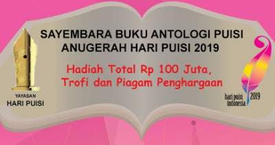 Sayembara Buku Puisi Anugerah HPI 2019 Berhadiah Total 100 Juta