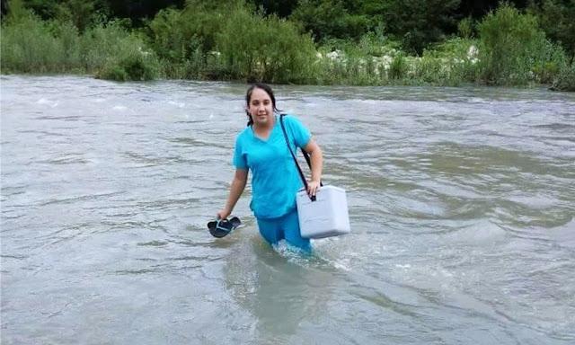 Conoce a Edid Chumacero, la enfermera que cruzó un río y caminó por trochas, venciendo cada obstáculo para salvar a un recién nacido