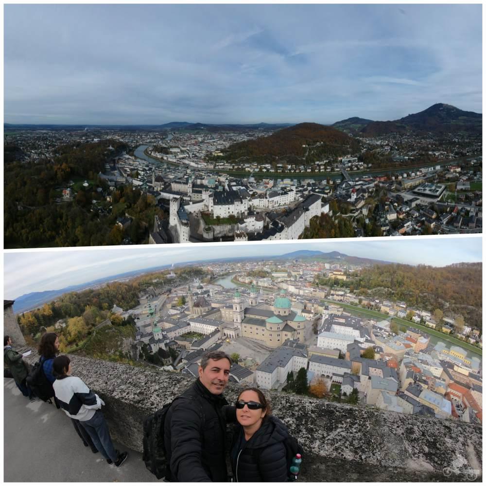 vistas desde el castillo de Salzburgo