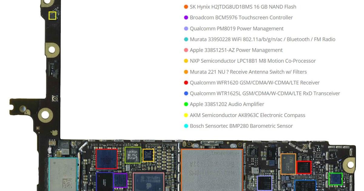 iphone 6 plus logic board diagram