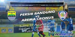 Persib Bandung Ditahan Imbang Arema Cronus 0-0 TSC 2016