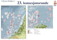 Oljedirektoratet: kart over 23. konsesjonsrunde