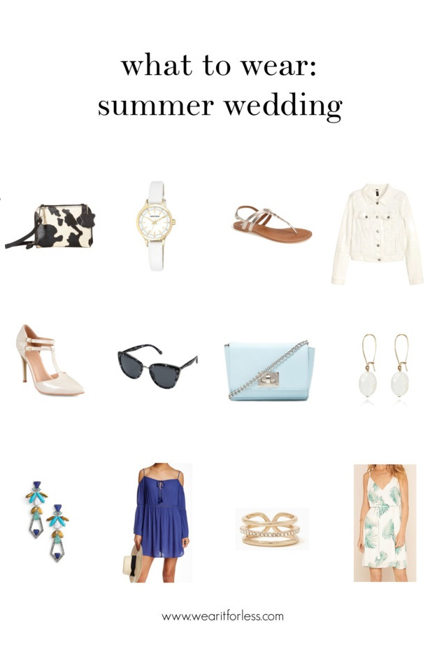 What to wear for a summer wedding | www.wearitforless.com