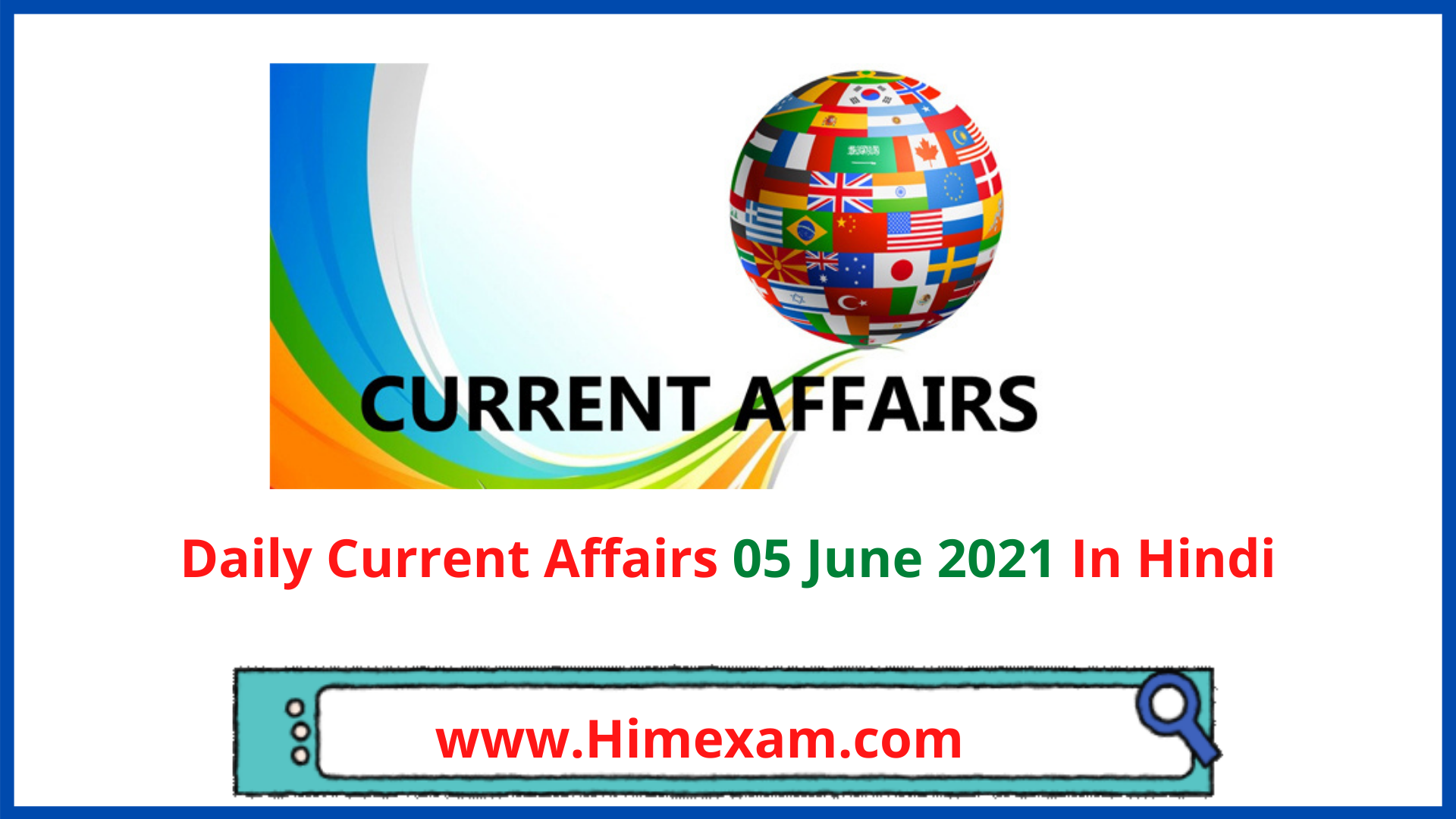 Daily Current Affairs 05 June 2021 In Hindi