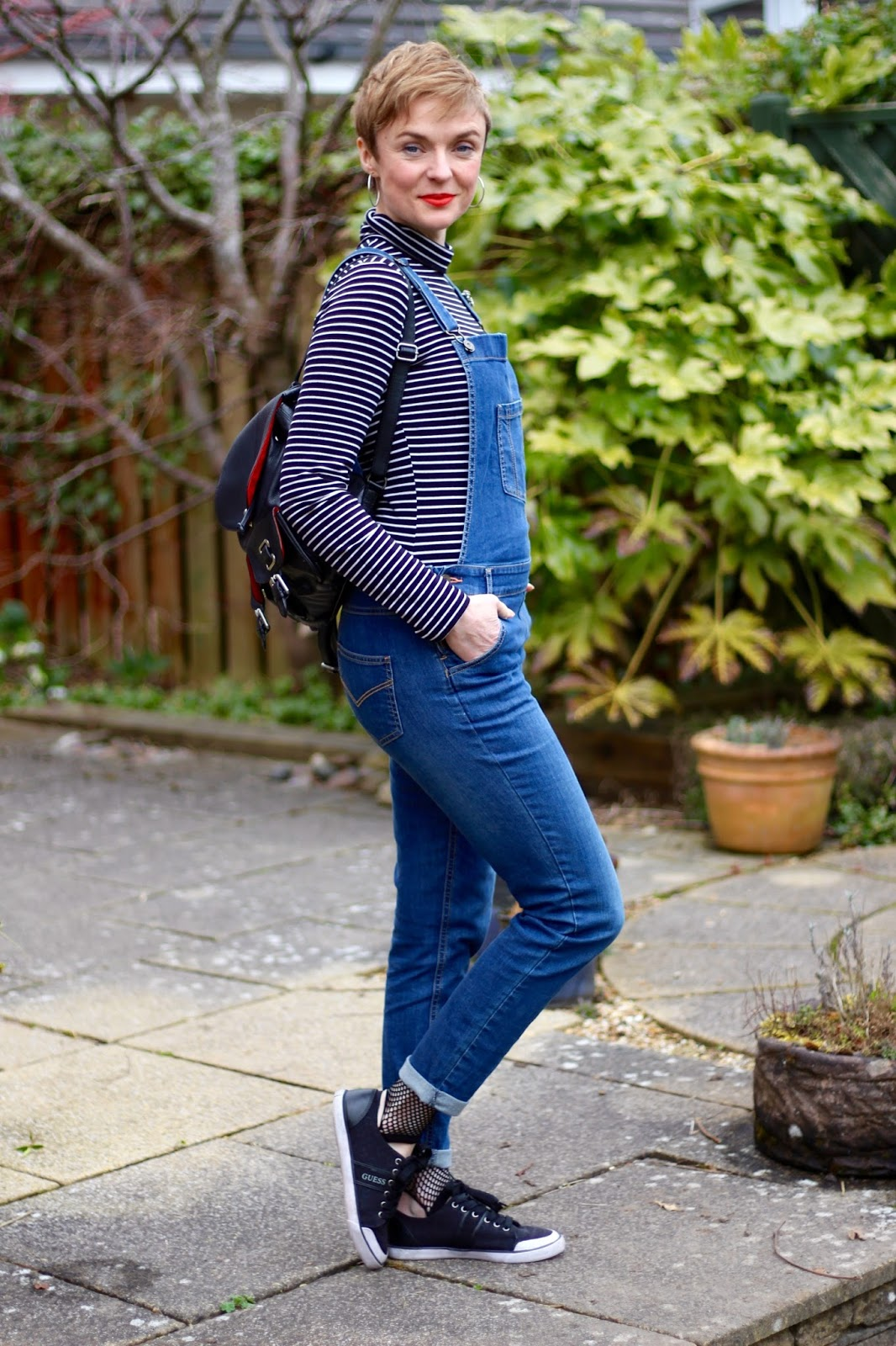 Dungarees, Stripes, Hoops, Fishnet and Short Hair, over 40 | Fake Fabulous