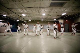 Students doing karate kata | Martial arts organization