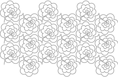 Rhododendron' digital pattern by Hermione Agee