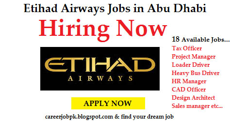 Etihad Airways Jobs in Abu Dhabi