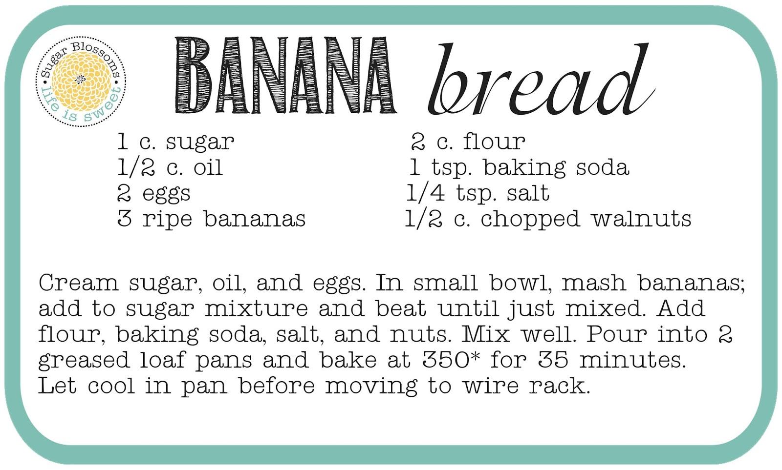 Recipe For Banana Bread Banana Bread Recipe
