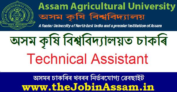 AAU Recruitment 2020: Technical Assistant Post at KVK, Dibrugarh