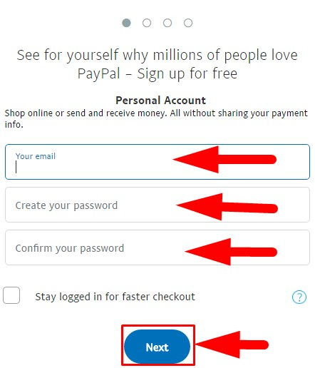 how to make account paypal