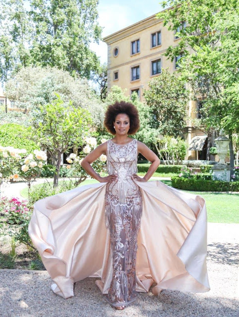 Miss Earth South Africa international delegate, Margo Fargo, dressed by Casper Bosman