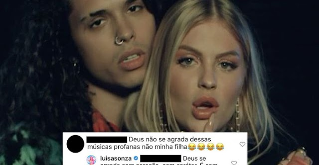 """Seguidora diz que músicas de Luísa Sonza são """"profanas"""" e leva baita resposta: """"Deus se agrada com caráter"""""""