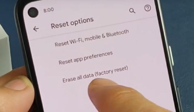 Factory Reset Pixel 4a
