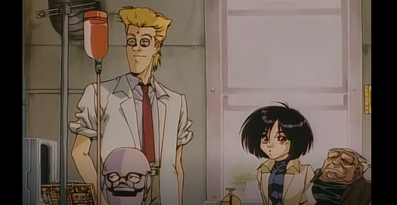 Doctor Daisuke Ido and Alita of Battle Angel Alita (Gunnm)