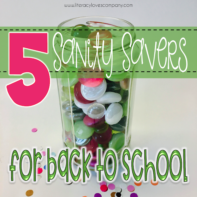 Feeling a bit overwhelmed as you get ready for Back to School?  These 5 sanity saving ideas will help you with classroom organization, classroom management, and more the first day of school and all school year long!  �