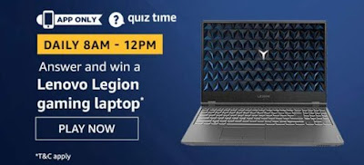 Amazon Quiz Answer Lenovo Legion Gaming Laptop
