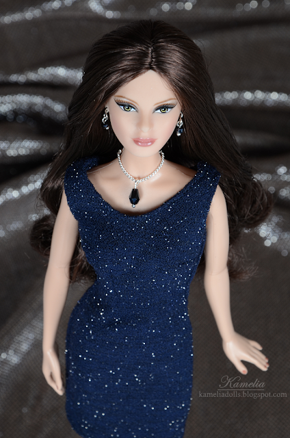 Handmade dress and jewellery for Model Muse Barbie