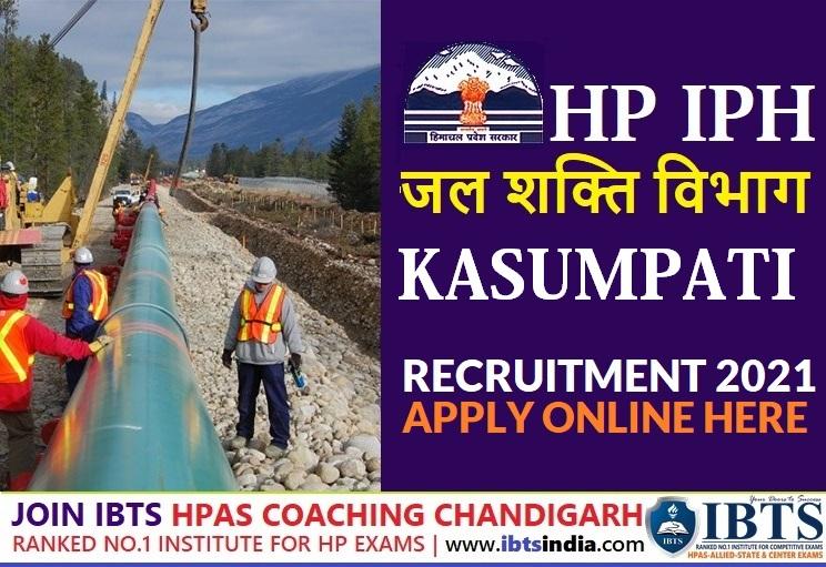 HP IPH Recruitment 2021: Jal Shakti Division Kasumpati Recruitment 2021 (Apply Now)
