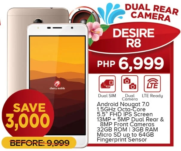 Cherry Mobile Desire R8 Now Only Php6,999