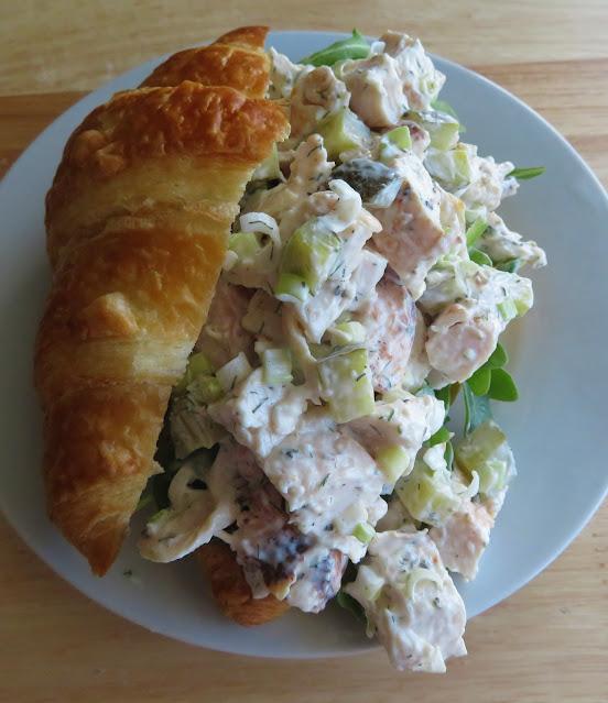 Dill Pickle Chicken Salad Croissants
