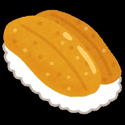 ウニの寿司のイラスト(海苔なし)