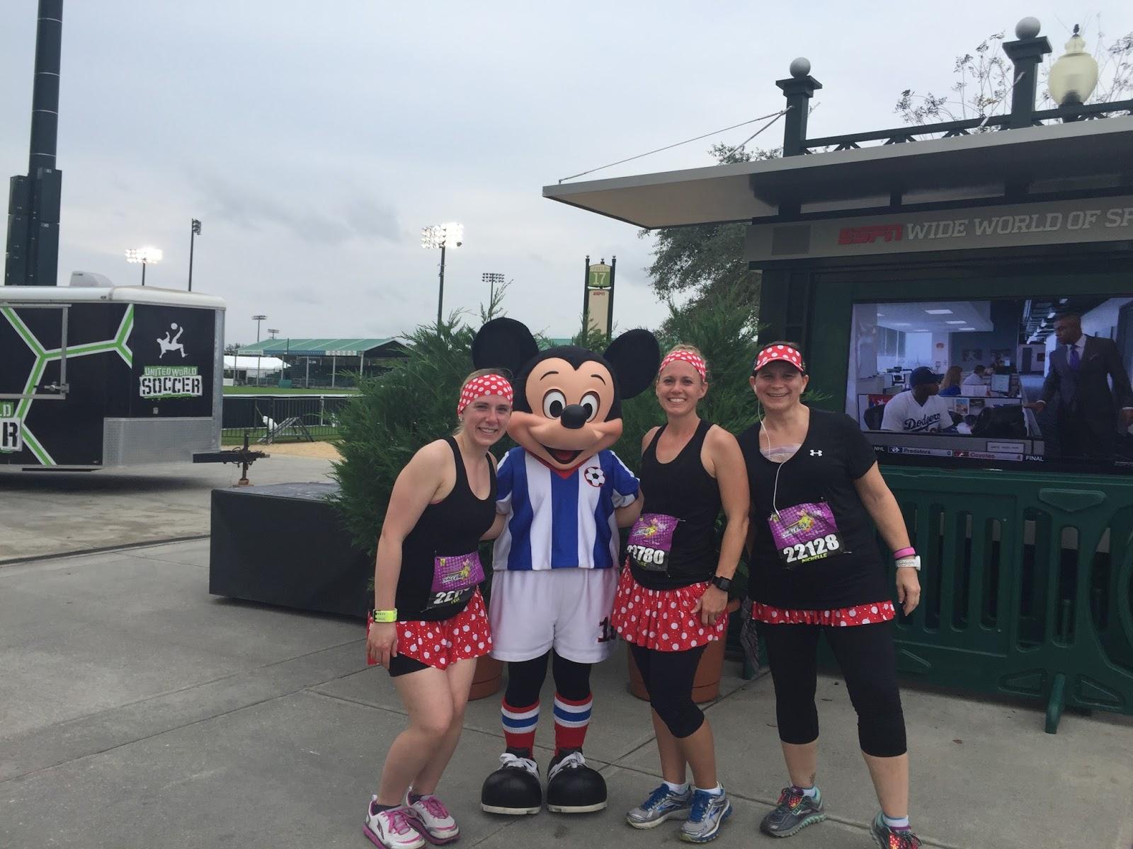 Dopey Challenge Mickey Marathon 2016 With Soccer Mickey at ESPN World
