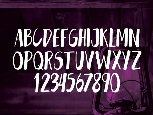 Gant free font glyphs