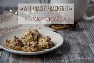 Weihnachtsbäckerei - leckere Fruchhäufchen - Rezept für fruchtiges Stollenkonfekt