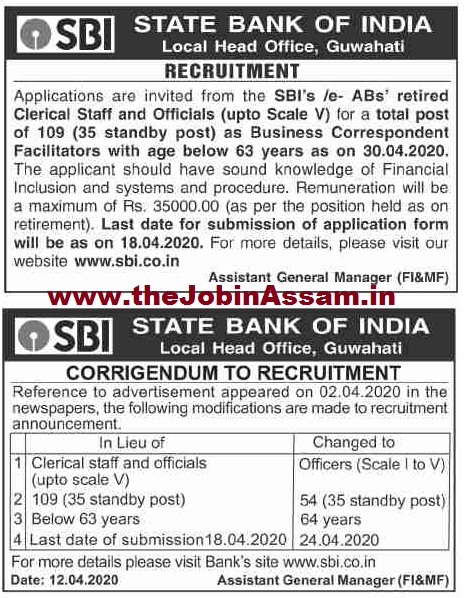 SBI Recruitment 2020: Apply For 54 Officers Posts @ Guwahati