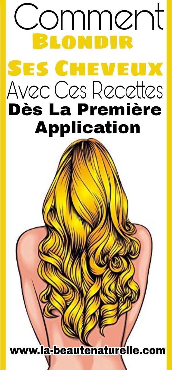 Comment blondir ses cheveux dès la première application