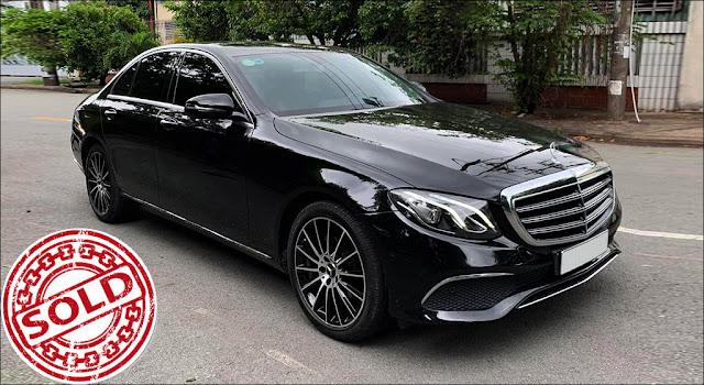 Mercedes E200 2017 đã qua sử dụng màu Đen nội thất Nâu