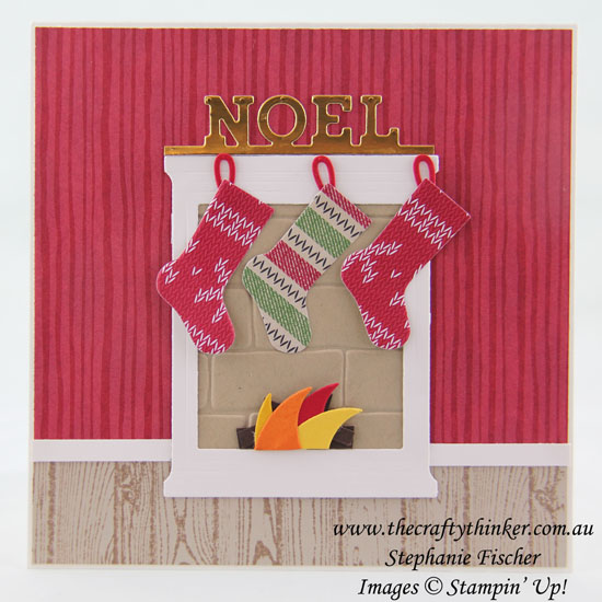 Stampin Up, #thecraftythinker, Xmas, Christmas Card, Hearth & Home, Christmas Stockings, Stampin Up Australia Demonstrator, Stephanie Fischer, Sydney NSW