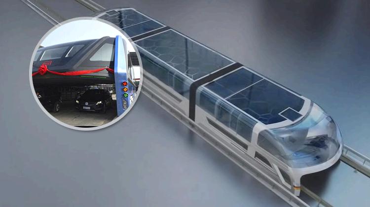future transportation - Chinas futuristic straddling bus