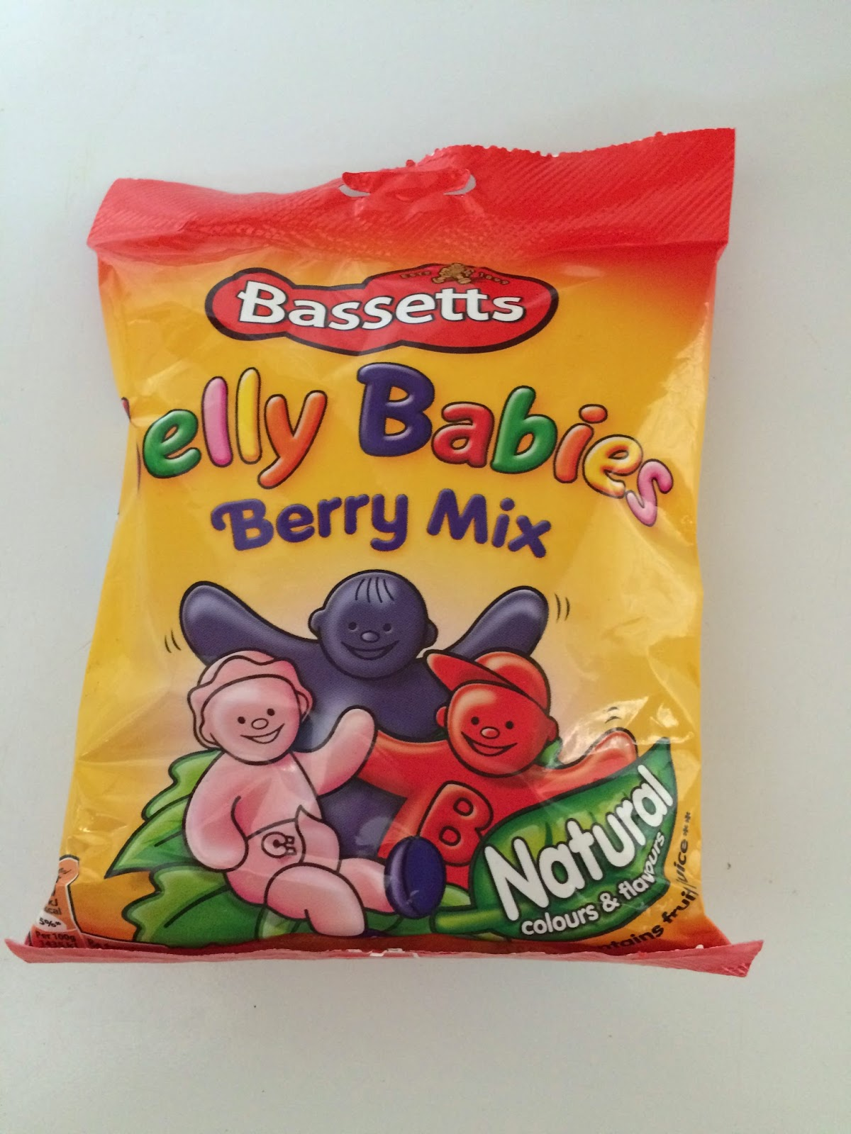 one bag of Bassetts jelly baby sweets