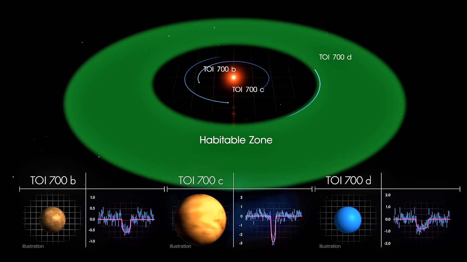 TOI 700 d is within the star's habitable zone.