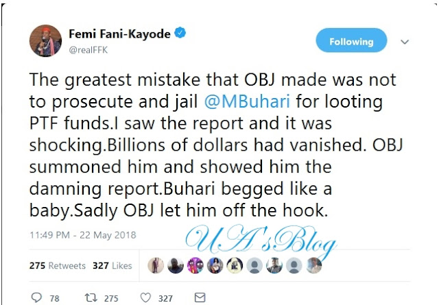 The Greatest Mistake Obasanjo Made Was Not To Jail Buhari – Fani Kayode