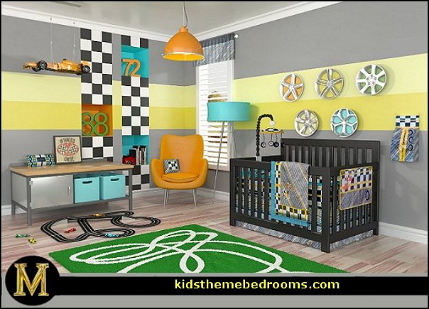 car racing theme bedrooms - theme beds - car beds - race car beds