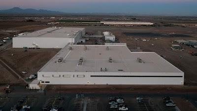 لوسيد موتورز Lucid Motors تستكمل أول مصانعها للسيارات الكهربائية في أريزونا