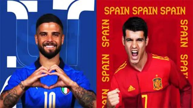 بعد لحظات إيطاليا و إسبانيا قمة نصف نهائي بطولة كأس الأمم الأوروبية