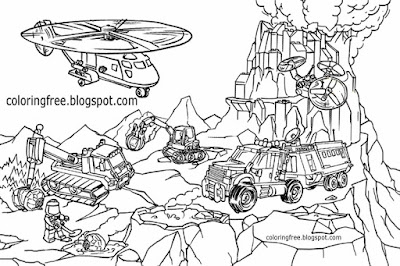 Moon space minifigure colouring book pages volcano world City Lego drawing for older kids to colour
