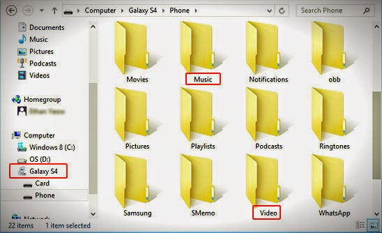 phone storage via Windows Explorer